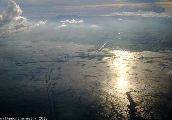 Philippines paddy fields from sky