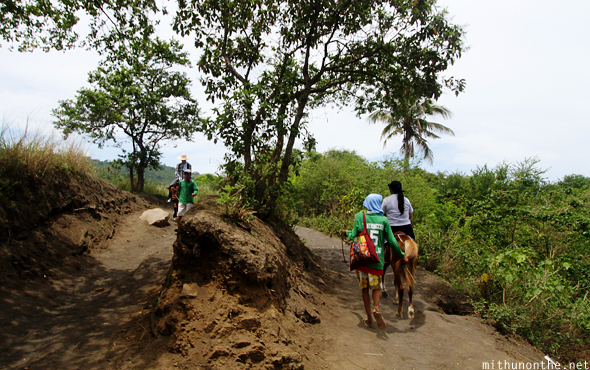 Riding horseback Taal volcano island-philippines