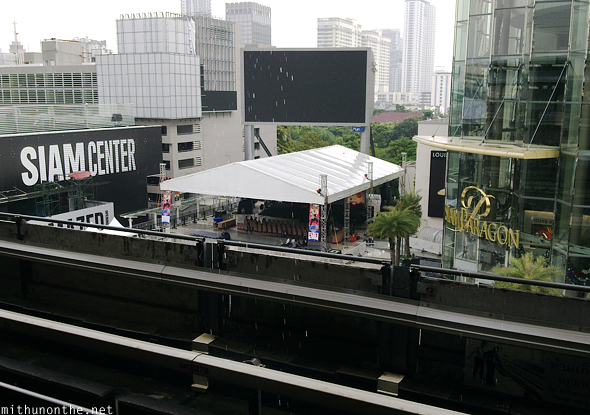 Siam Center stage setup Bangkok