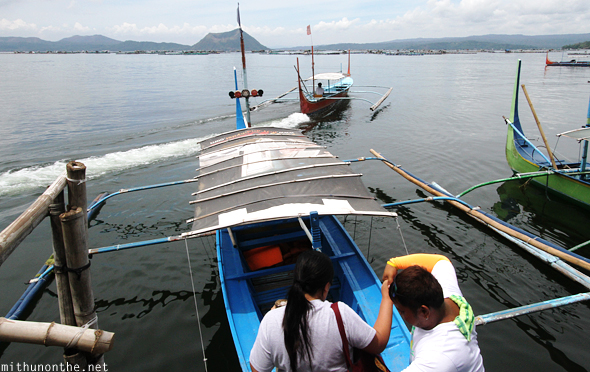 Taal lake boat ride Batangas Philippines