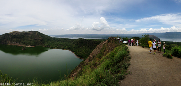 Taal volcano lake panorama