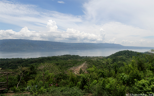 Taal volcano lake surrounding panorama