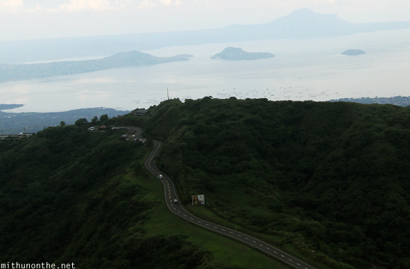Tagaytay hill road Philippines