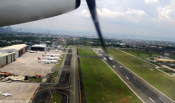 Taking off from Manila naia airport