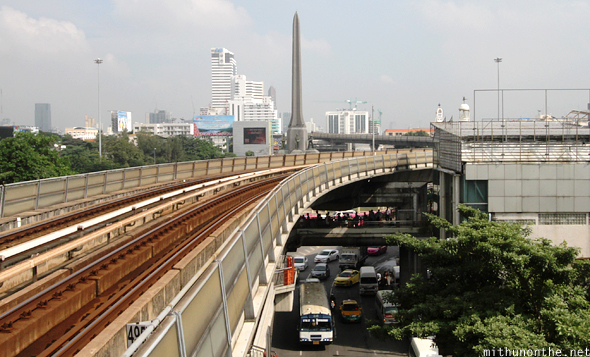Victory Monument BTS train track Bangkok
