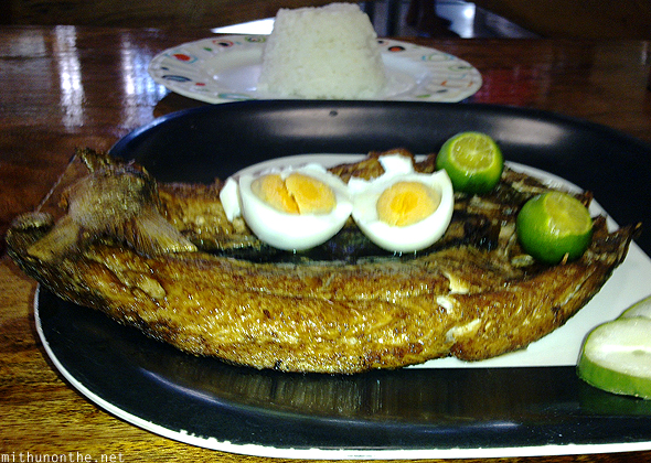 Bangus fry rice meal Philippines