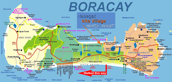 Boracay map with hotels crop