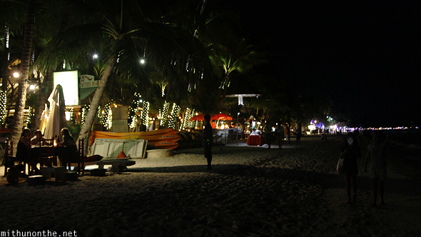 Boracay White beach at night