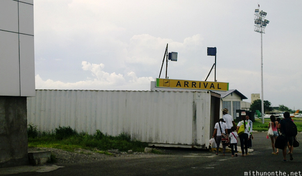 Clark airport arrival container
