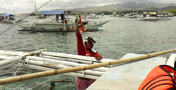 Ice cream vendor in sea Philippines