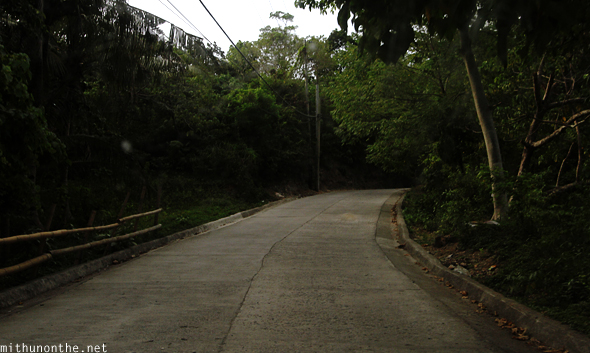 Road to Mount Luho Boracay Philippines