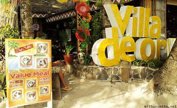 Villa de Oro beach restaurants Boracay