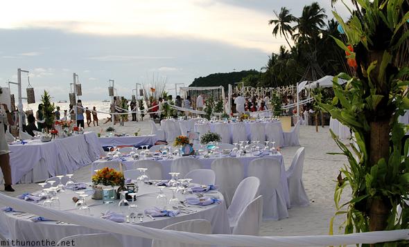 Wedding on white beach Boracay Philippines