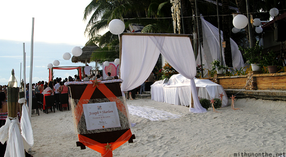 Willy's beach resort wedding Boracay white beach