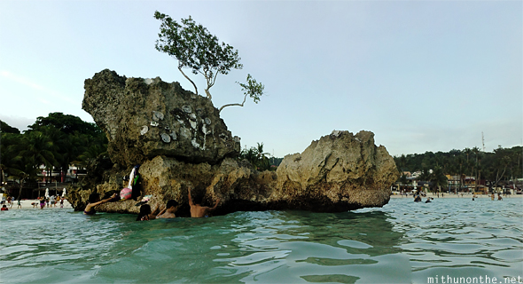 Willy's Rock from the sea Boracay