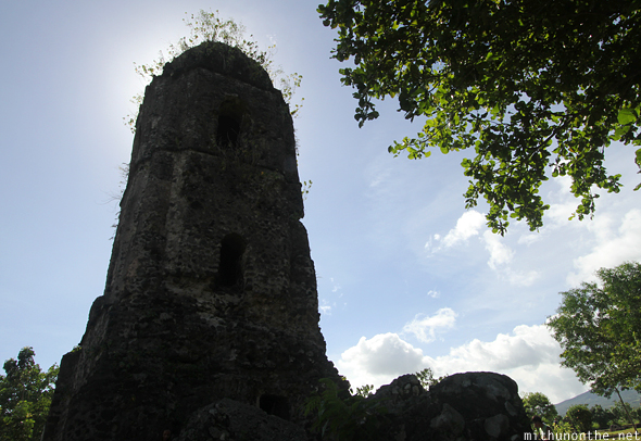 Cagsawa church tower Bicol Philippines