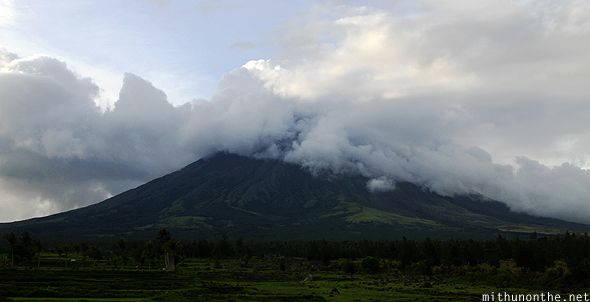 Clouds cover Mount Mayon Legazpi