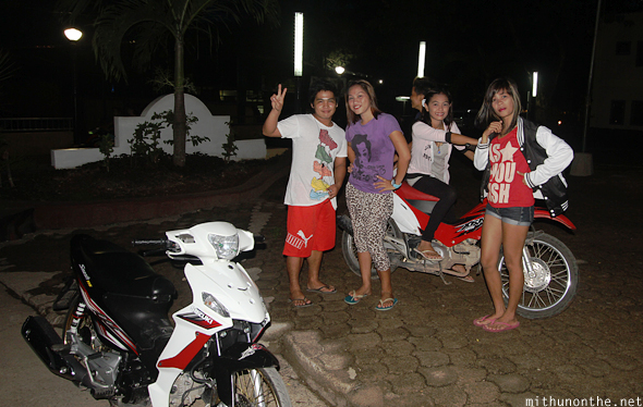 Coron youngsters at night Palawan Philippines