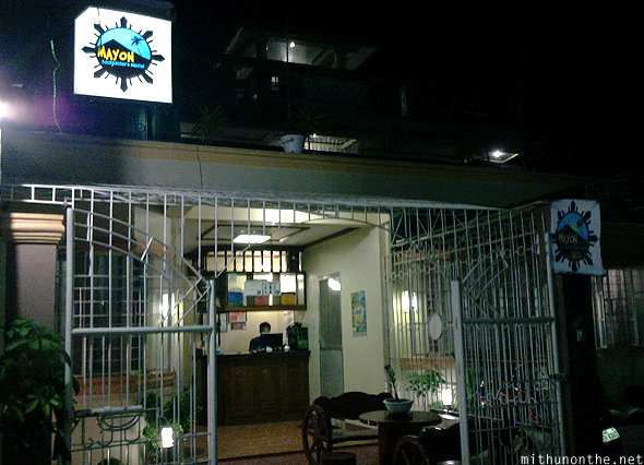 Mayon Backpackers hostel night