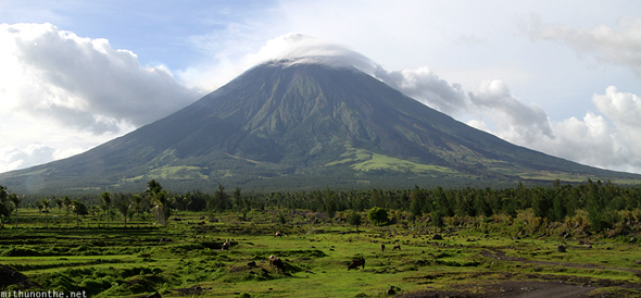 Mount Mayon cloud at the tip