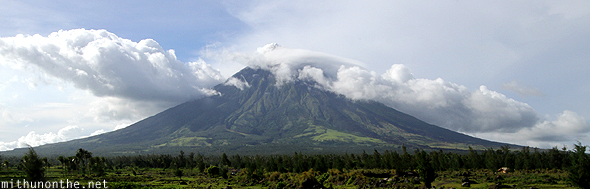 Mount Mayon clouds Philippines