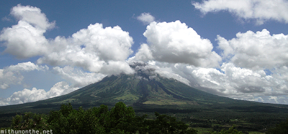 Mt. Mayon cloudy Legazpi Philippines