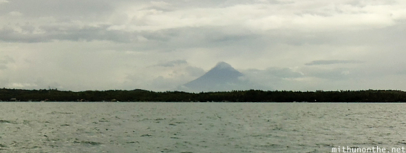 Mt. Mayon from Donsol sea