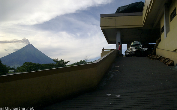 Mt. Mayon from Legazpi market