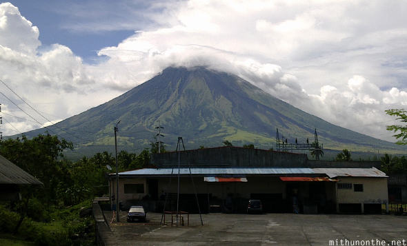 Mt. Mayon from road