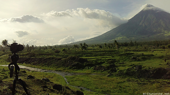 Shooting timelapse Mt. Mayon