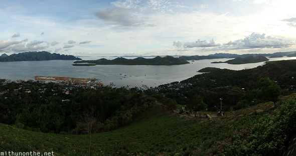 Coron hill panorama