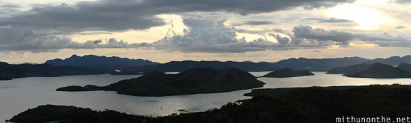 Coron hills at sunset panorama