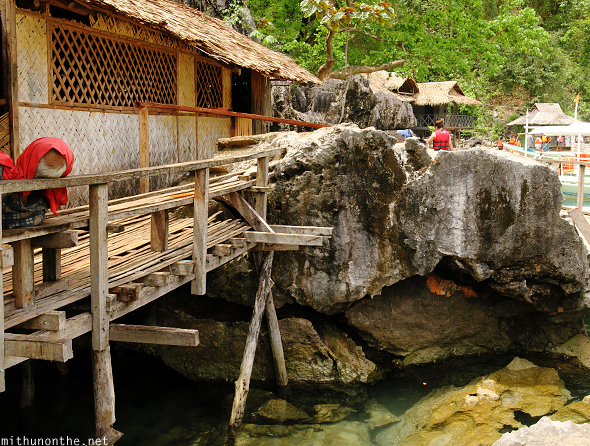 Coron island stilt house