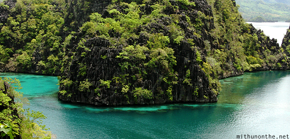 Coron islands clear emerald water