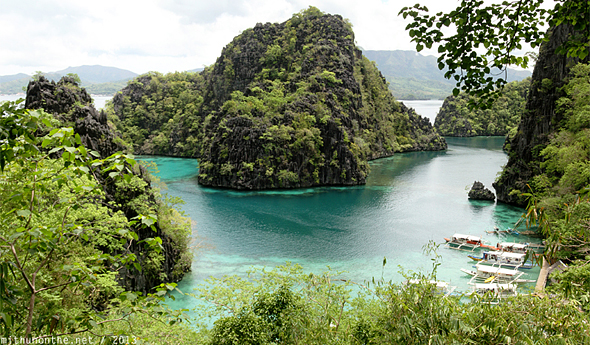 Coron islands postcard Palawan Philippines
