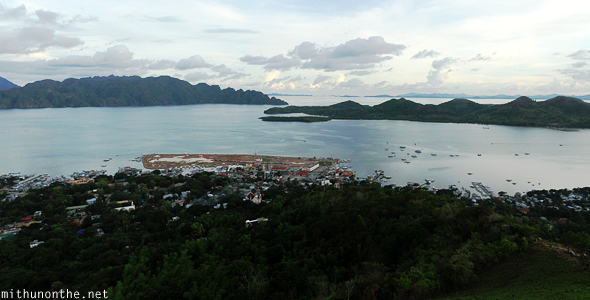 Coron town from tapyas hill