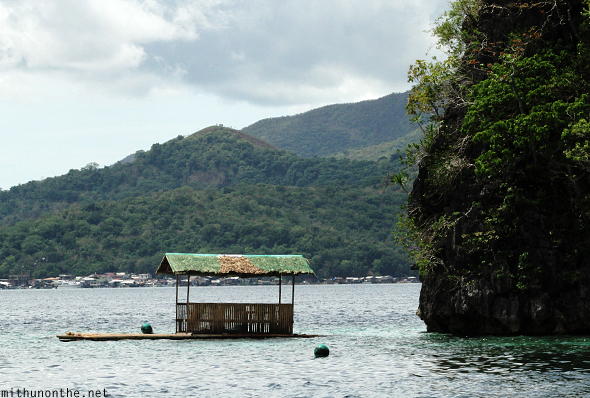 Floating hut Coron Palawan