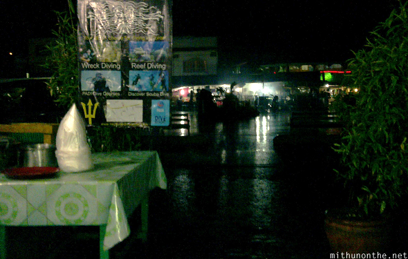Heavy rain at night Coron