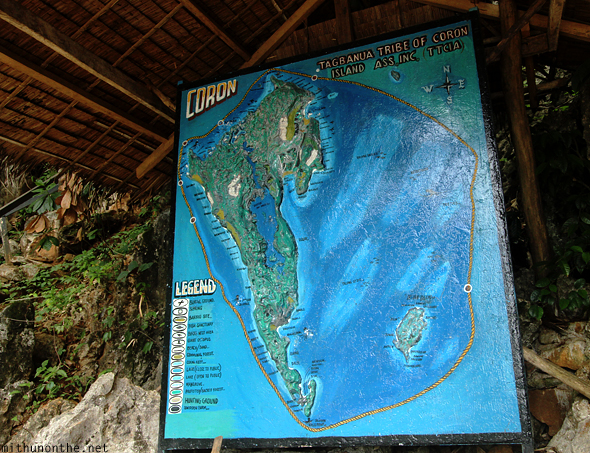 Kayangan Coron island map