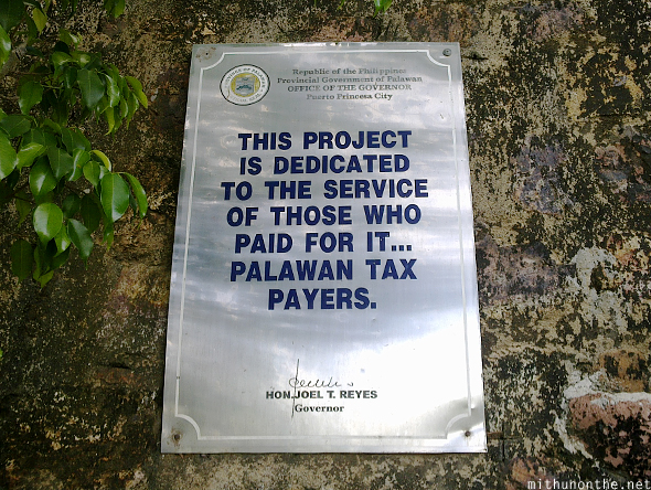 Palawan tax payers project tribute Coron