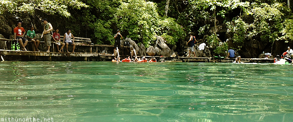 Swimming in Kayangan lake Coron