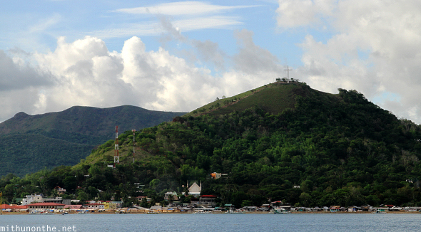 Tapyas hill Coron from sea