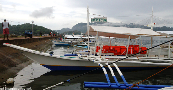 Tour boats docked Coron Palawan