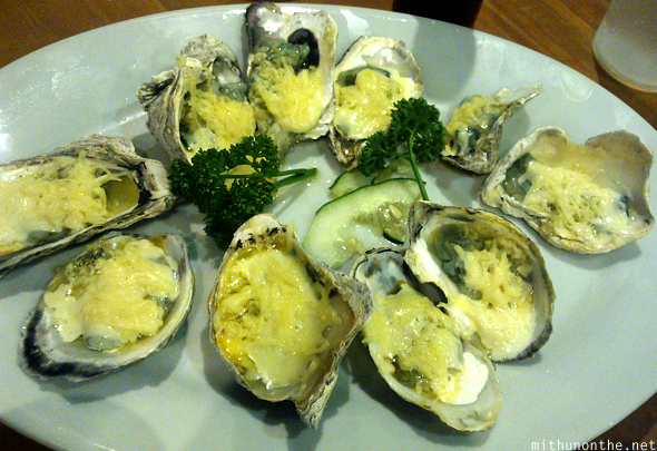 Baked cheese oysters Giligans Manila