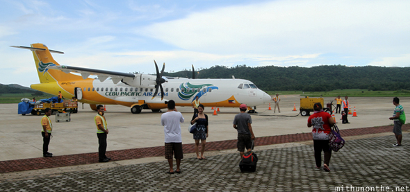 Cebu Pacific flight Coron Palawan