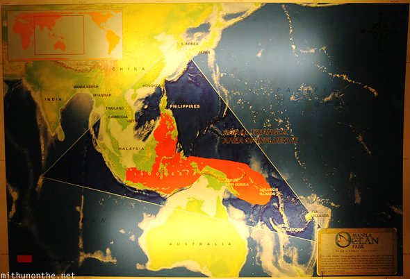 Coral triangle map SE asia