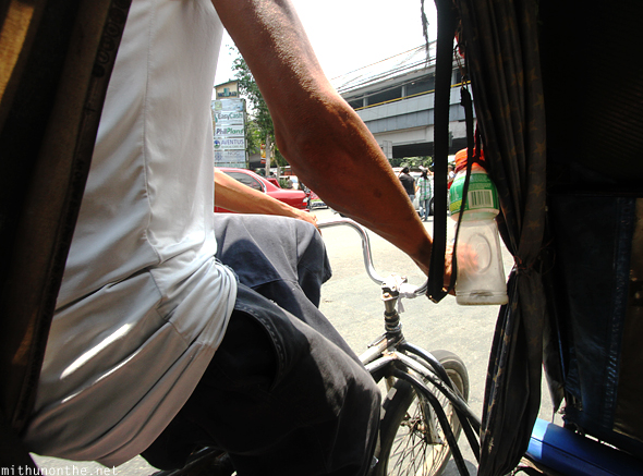 From inside tricycle taxi Manila