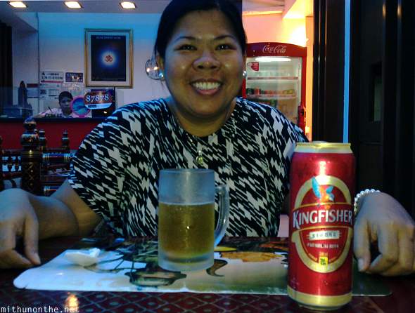 Janet Kingfisher beer Indian restaurant Manila