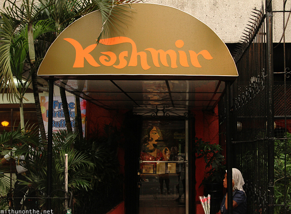 Kashmir Indian restaurant Manila