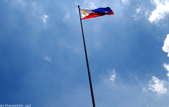 Philippines flag post flowing in the wind